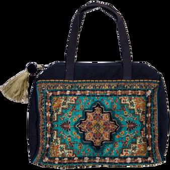 Brocade Mini Duffel Bag - Jewel