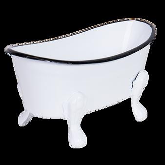 Metal  Soap Holder - White