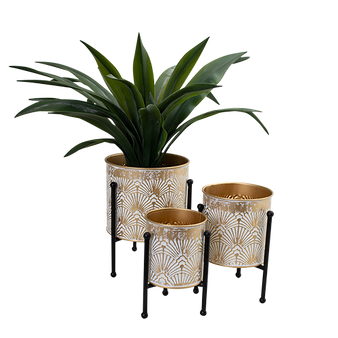 Table Top Metal Planter - Gold