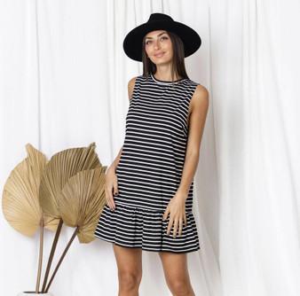 Piper Ruffle Hem Mini Dress