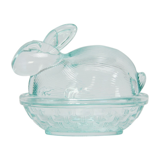 Glass Bunny Dish