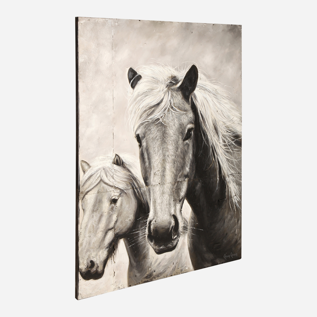 Art on Reclaimed Metal, Horses