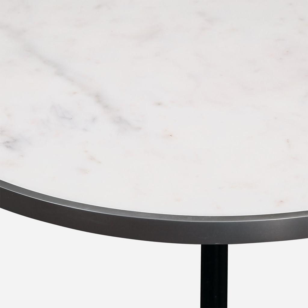 Parisian Bistro Table, White Marble