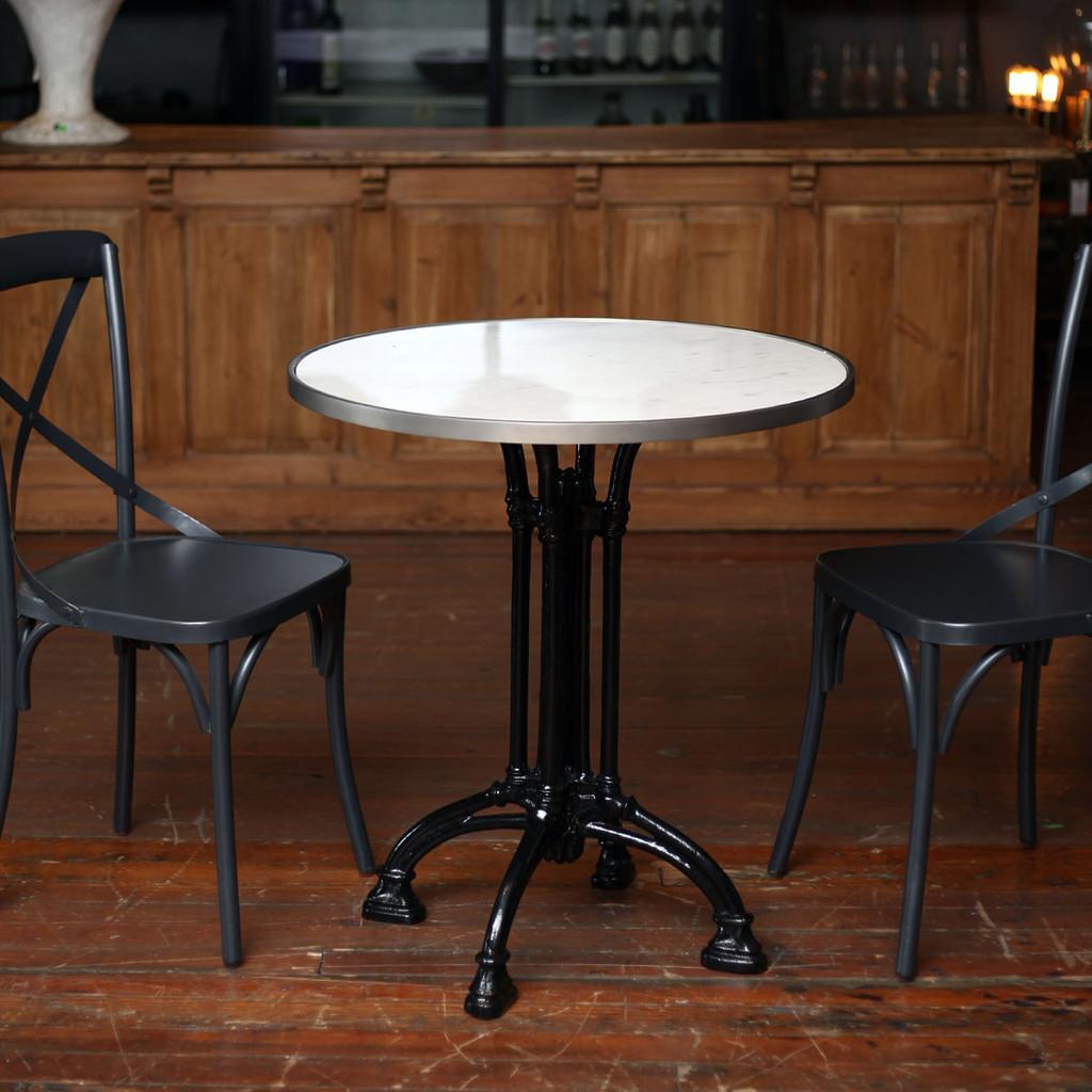 Nouveau Bistro Table, White Marble