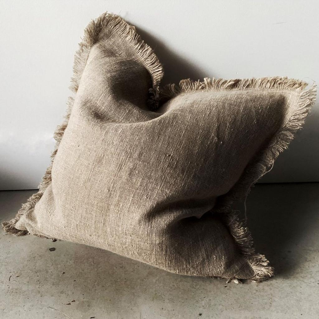 Shetland Cushion, Natural Fridged