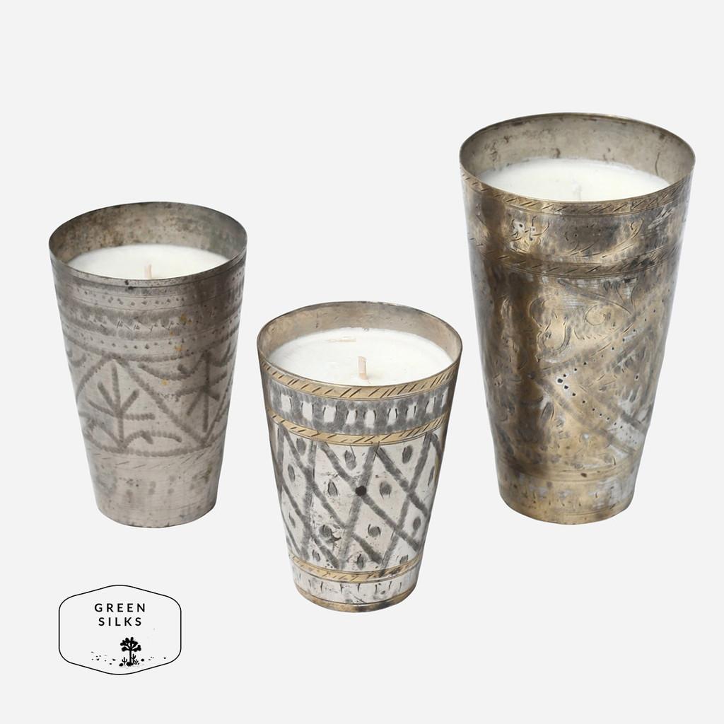 Lassi Cup Candle, Greensilks