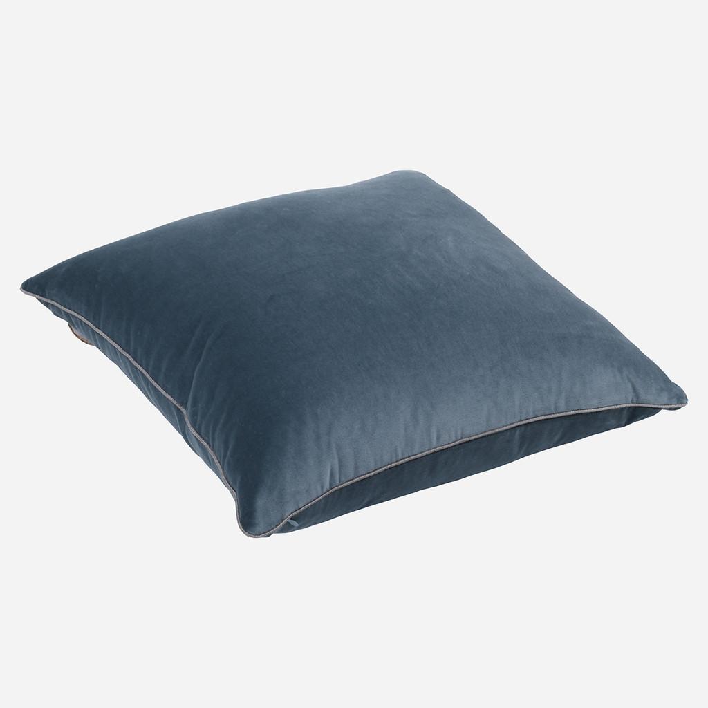 Deft Blue Velvet 22 x22 w/ Cord Pillow