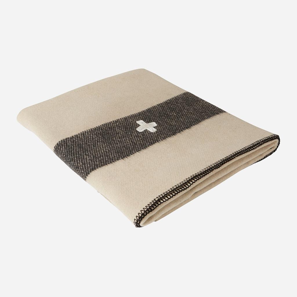 Swiss Army Wool Blanket (Cream)