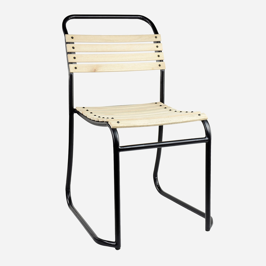 Wood Slatted Stacking Chairs (PC)