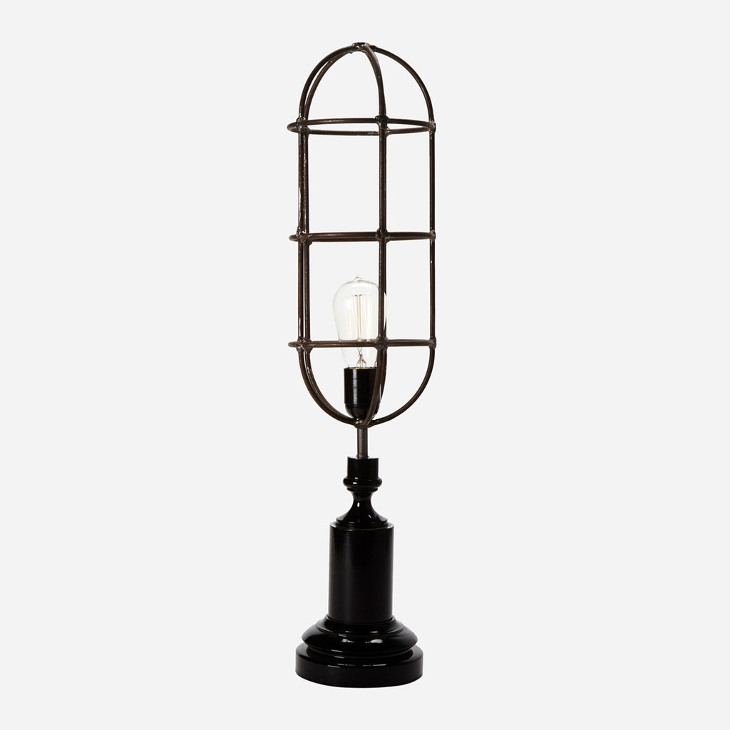 Geometric Wire Table Lamp, Square