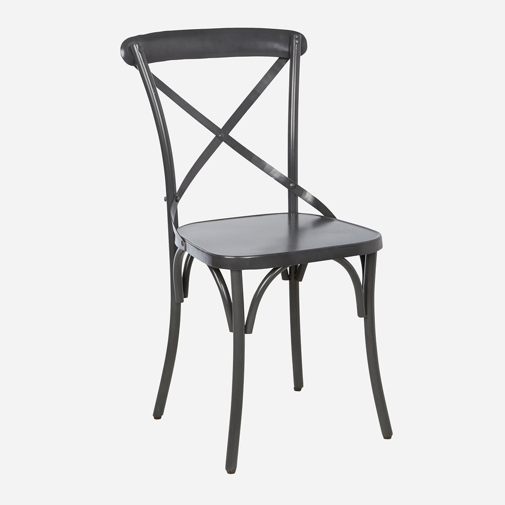 Steel X Back Dining Chair