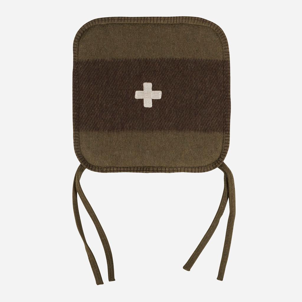 Swiss Army Chair Cushion 15x15 Green/Brown