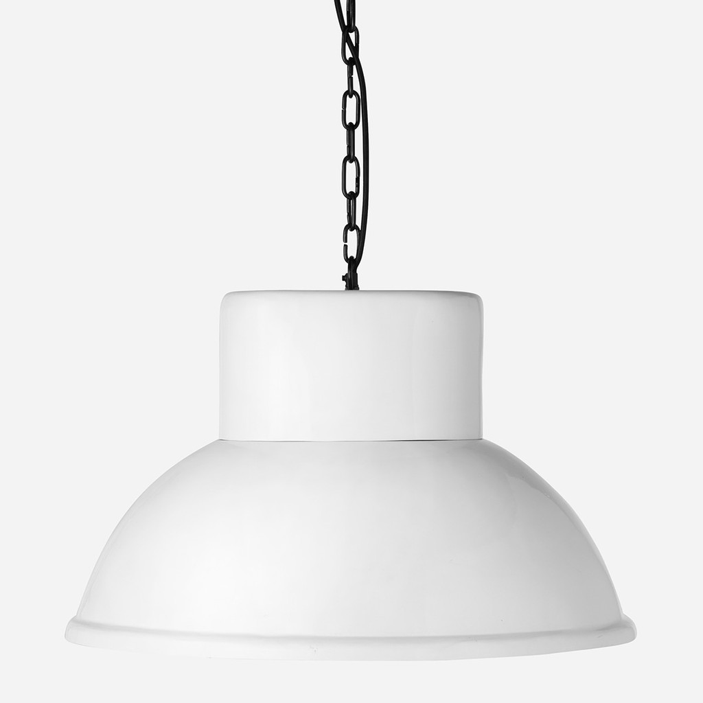 Gas Station Pendant Oval White