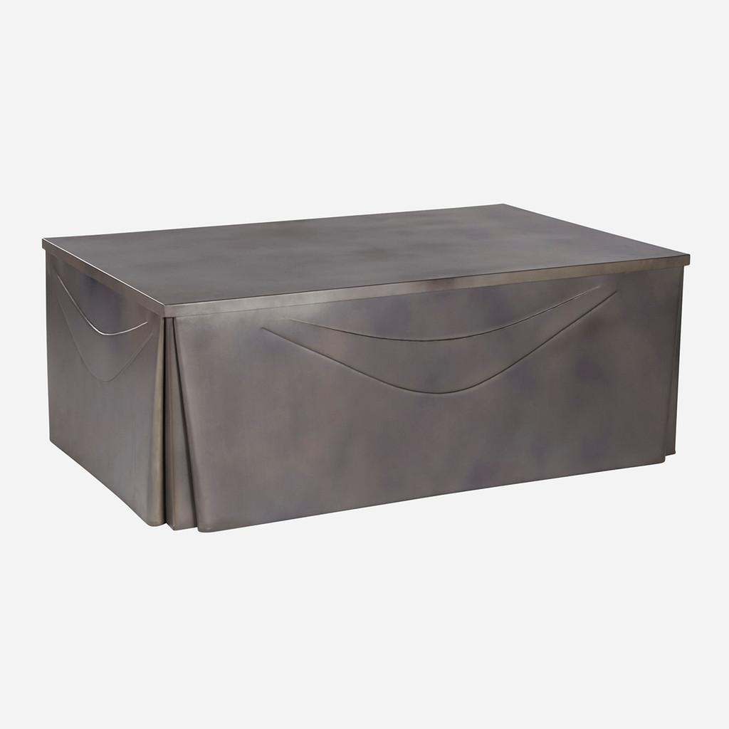 Metal Skirted Coffee Table