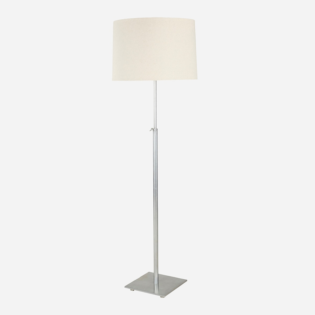 Adjustable Floor Lamp, Stainless Steel