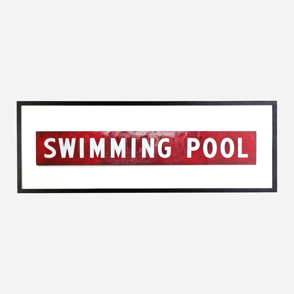 Framed Print, Swimming Pool 60x20