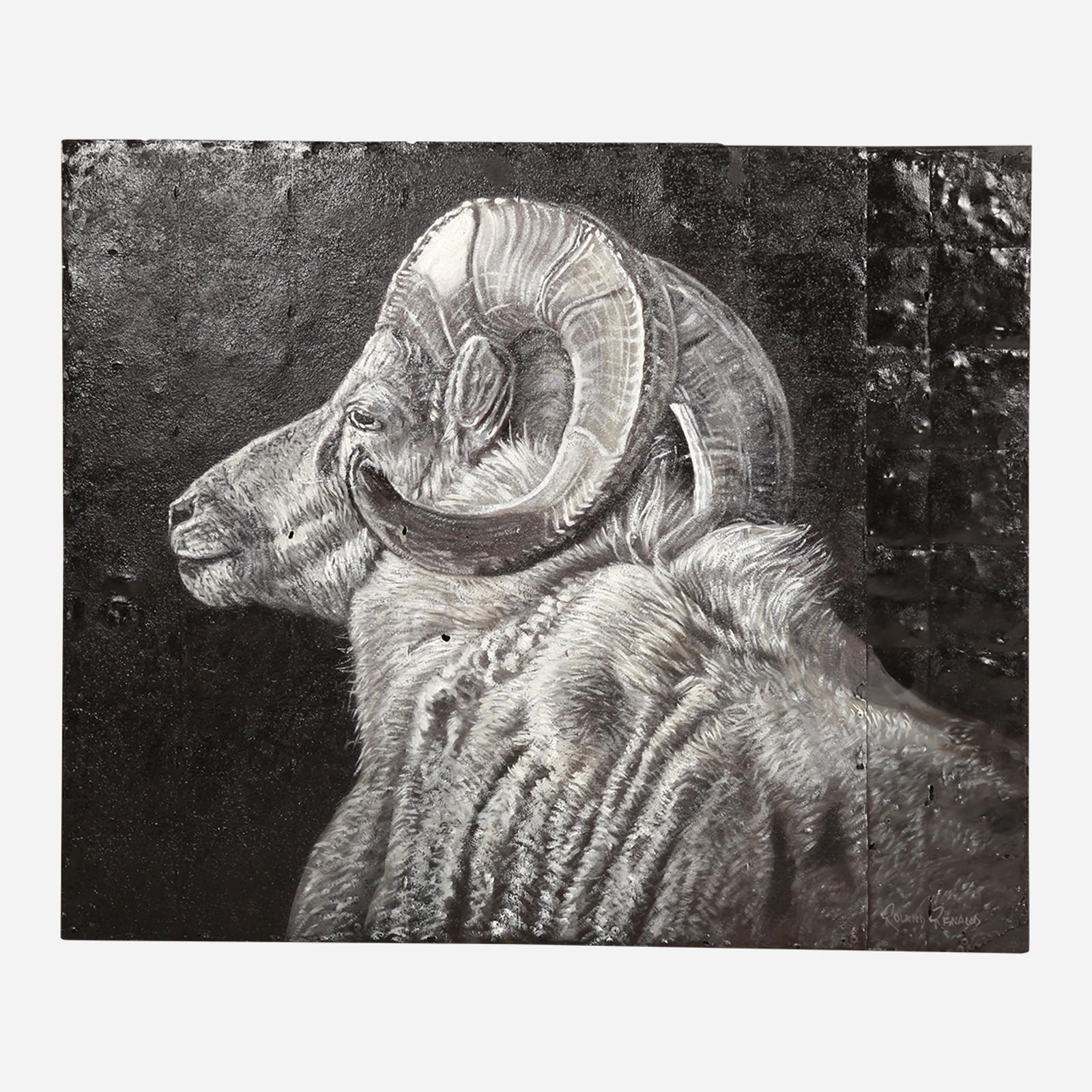 Art on Reclaimed Metal, Ram