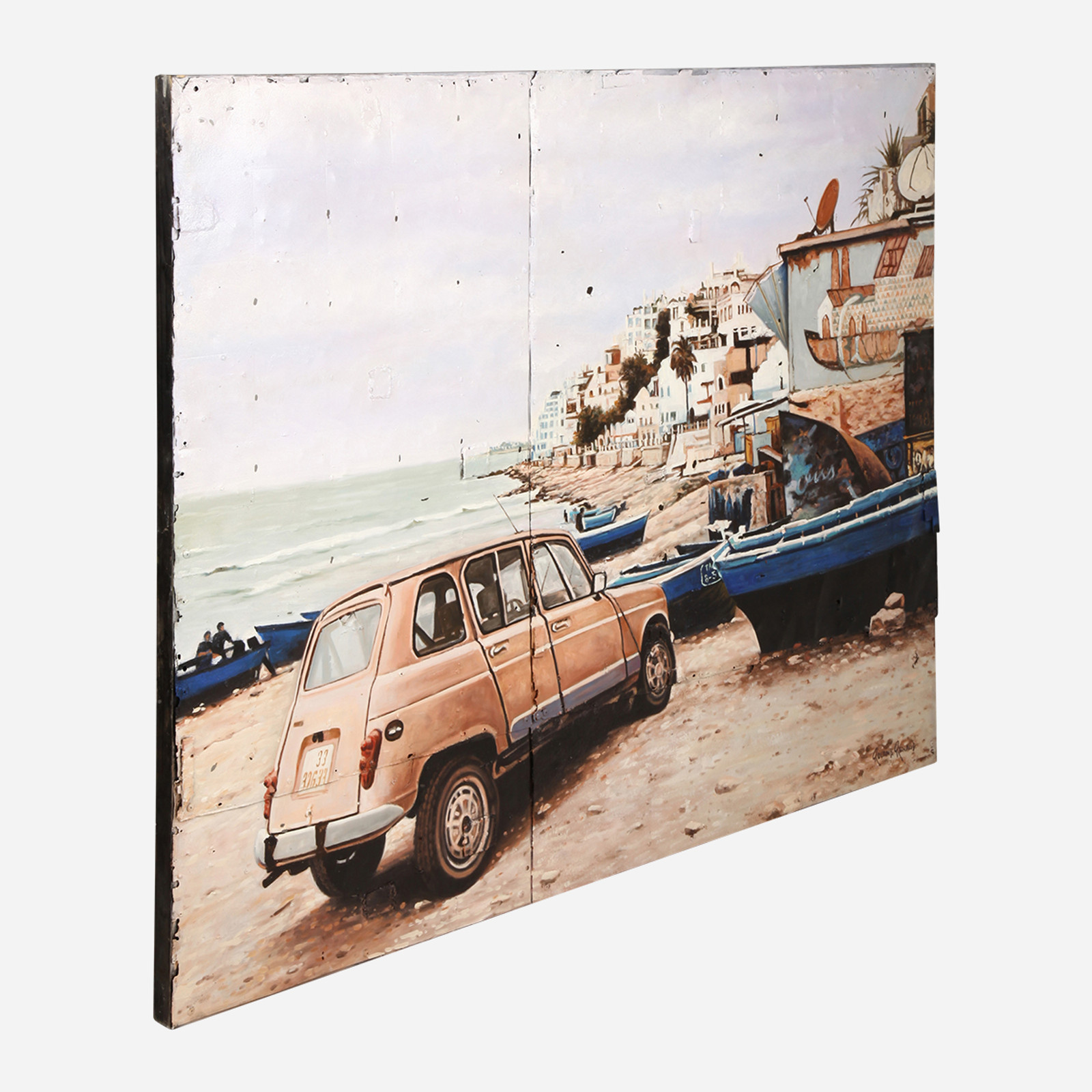 Art on Reclaimed Metal, Renault Beach