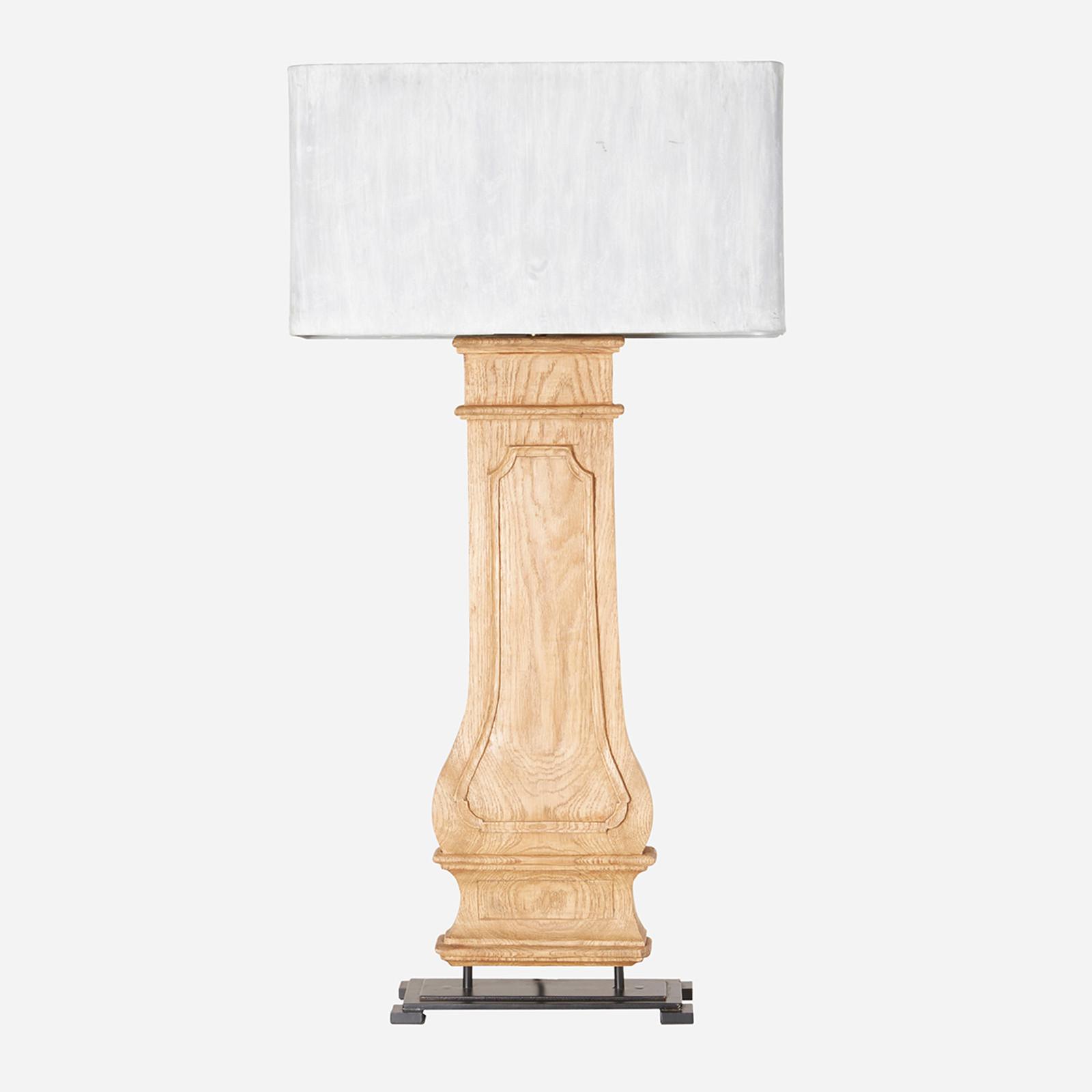 Column Table Lamp w/ Zinc Shade  (WHS Open Box Stock)