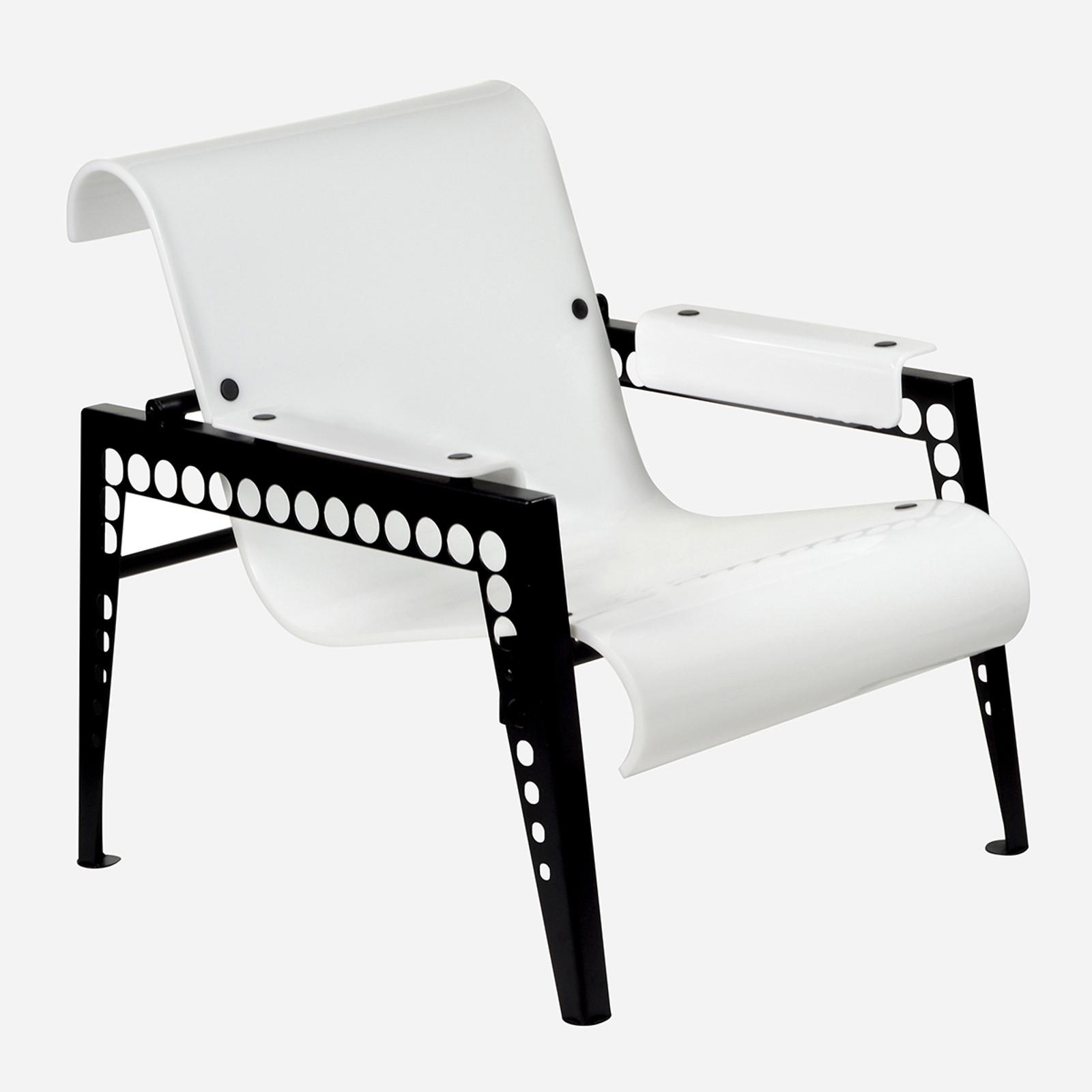 Mr. Bubbles Armchair, White Acrylic (WHS Open Box Stock)