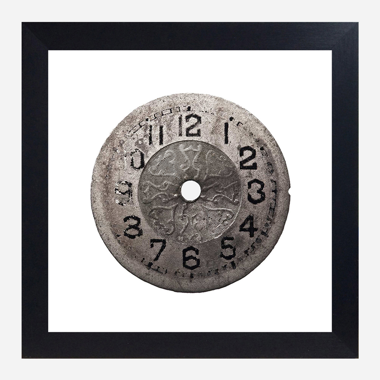Framed Watch Face Print, Faded 10x10 (WHS Open Box Stock)
