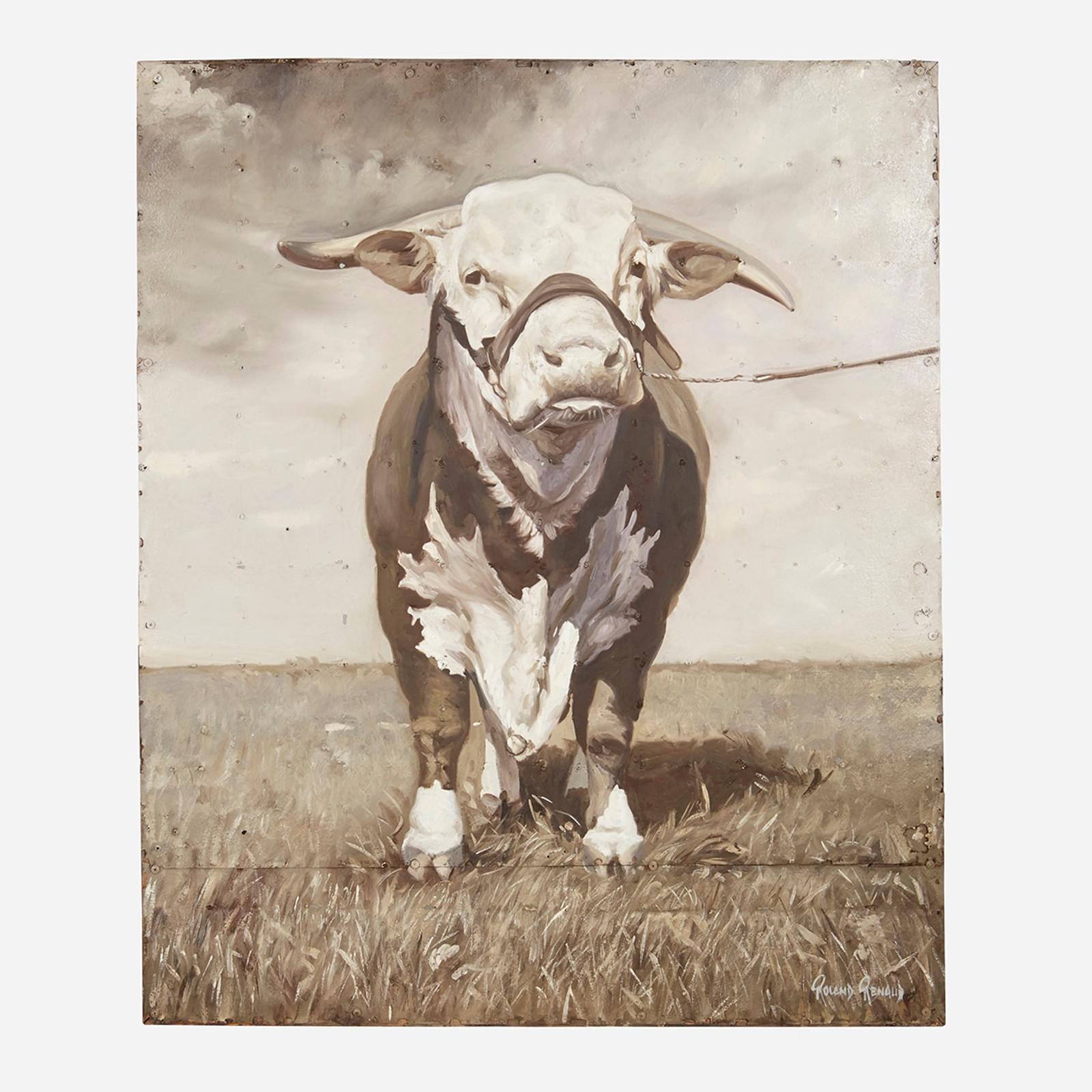 Art on Reclaimed Metal, Bull