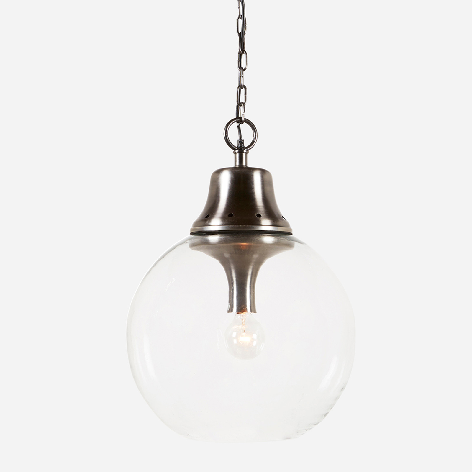 "Goddard Pendant 17"" Aged Steel  (WHS Open Box Stock)"