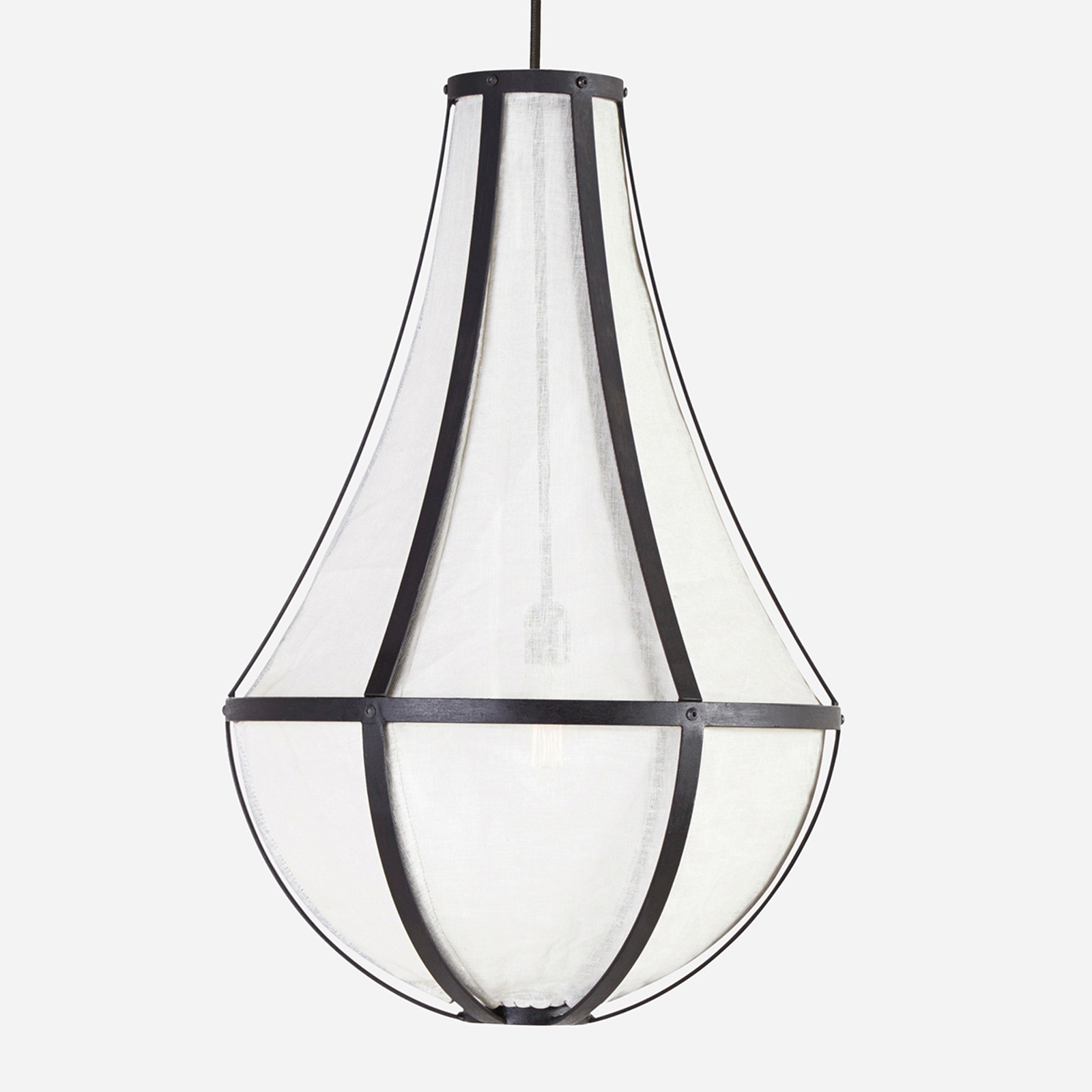 Empire Linen Chandelier, Medium  (WHS Open Box Stock)
