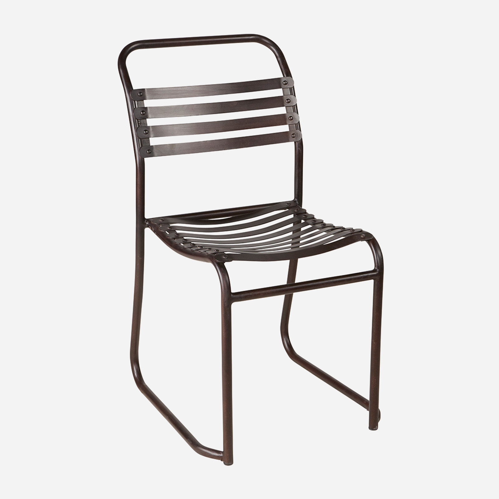 Rubber Slatted Stacking Chair (Indoor Only) (WHS Open Box Stock)