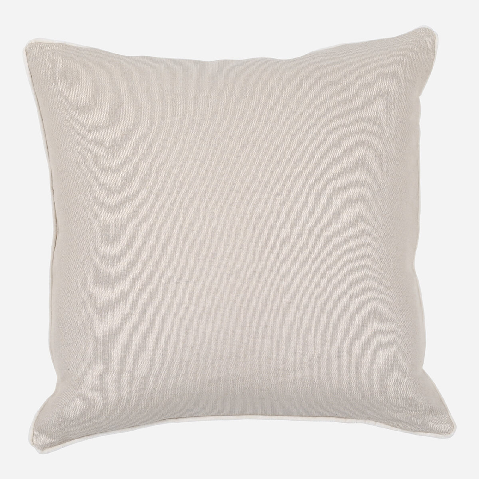 Taupe Linen with Velvet Pipe Pillow