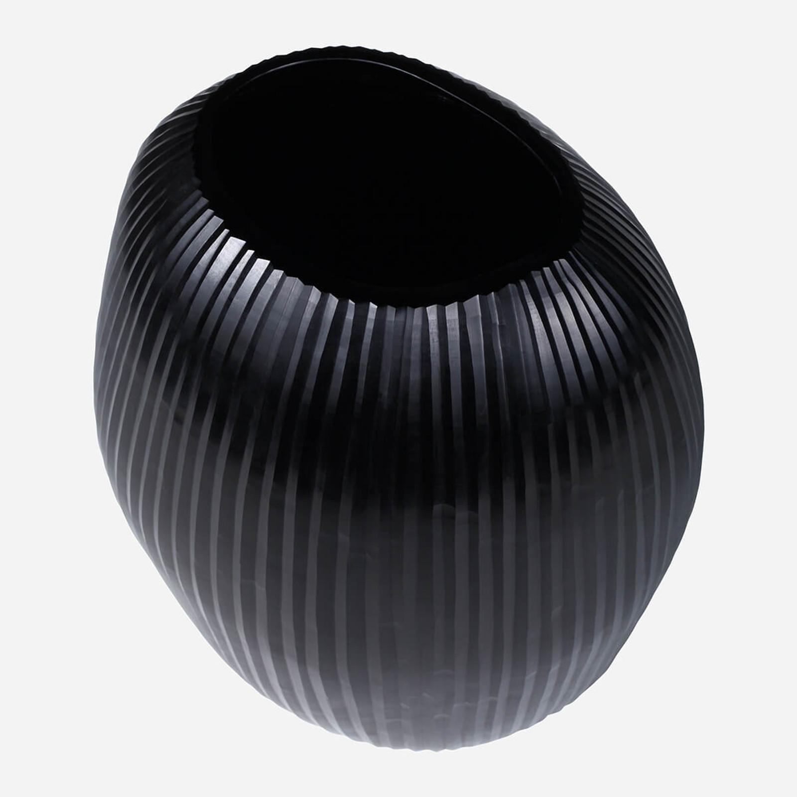 Seine Large Vase, Black