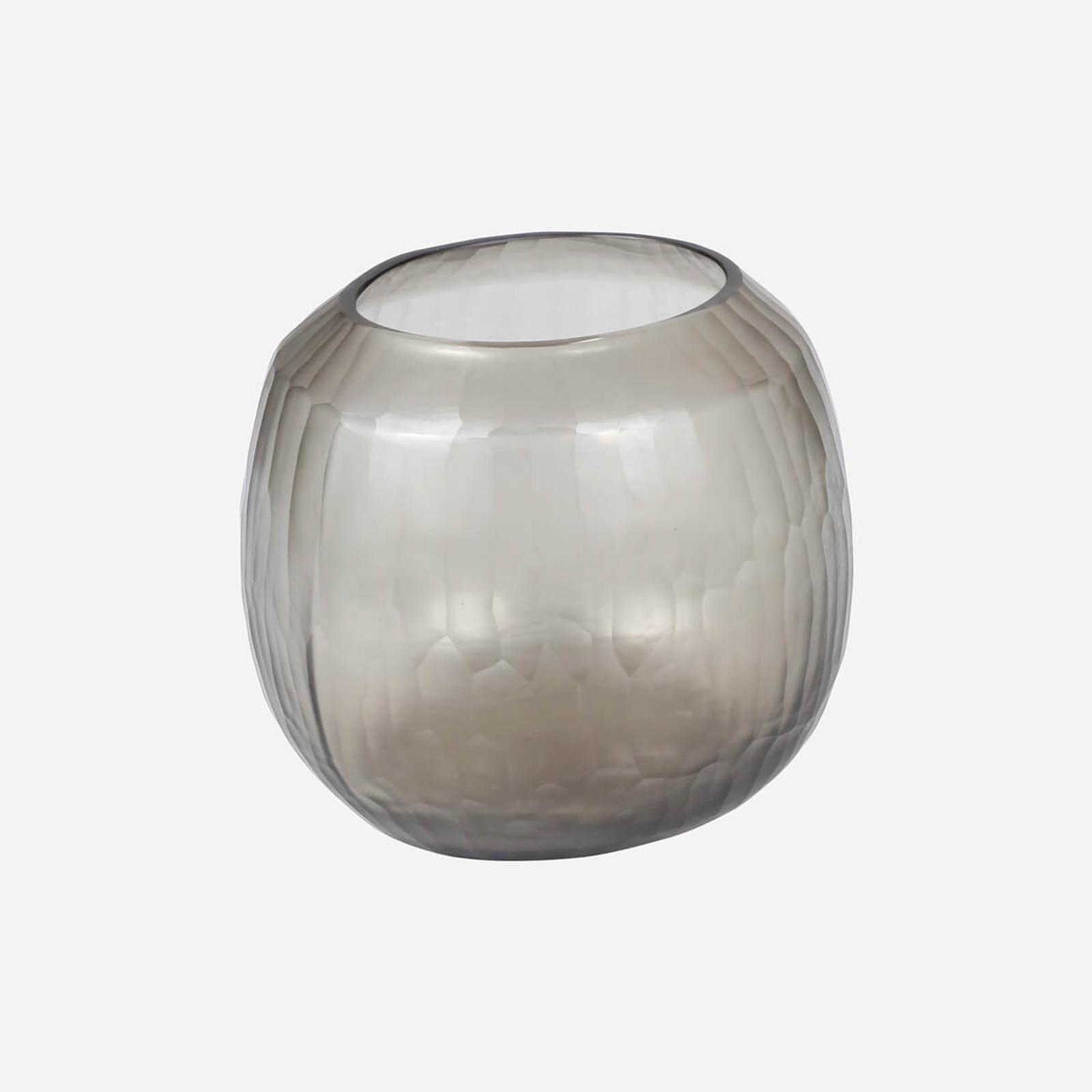 Rhone Medium Vase, Smoke