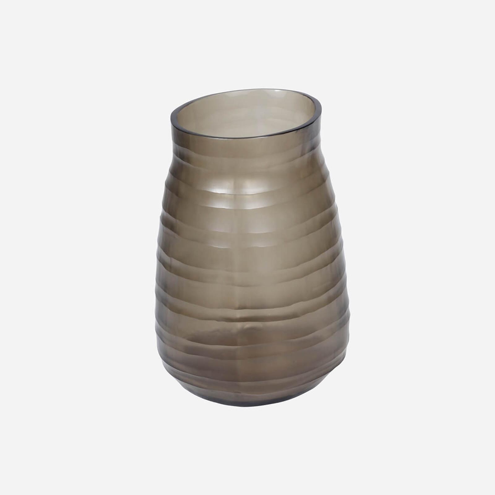 Escaut Medium Vase, Smoke