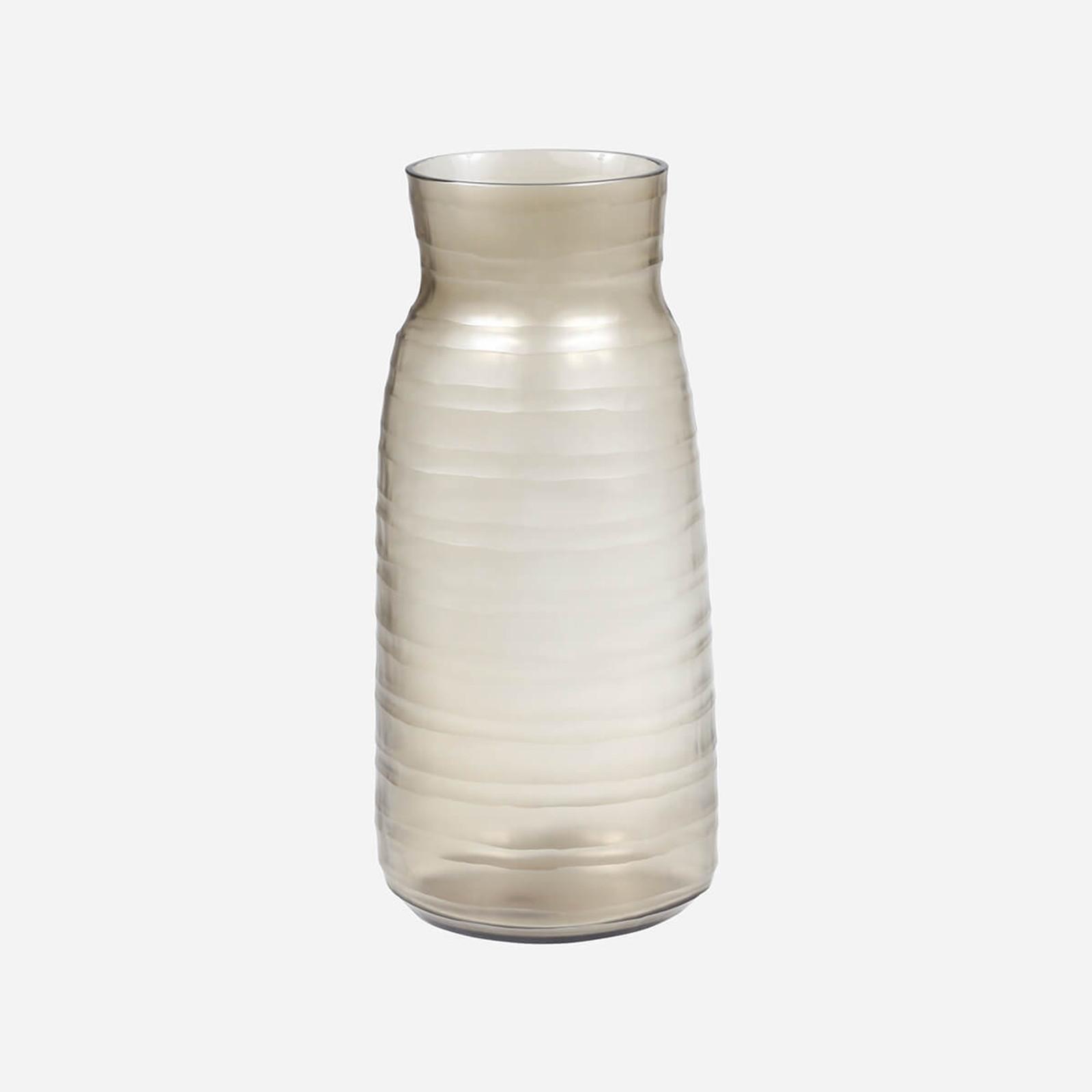 Escaut Tall Vase, Smoke