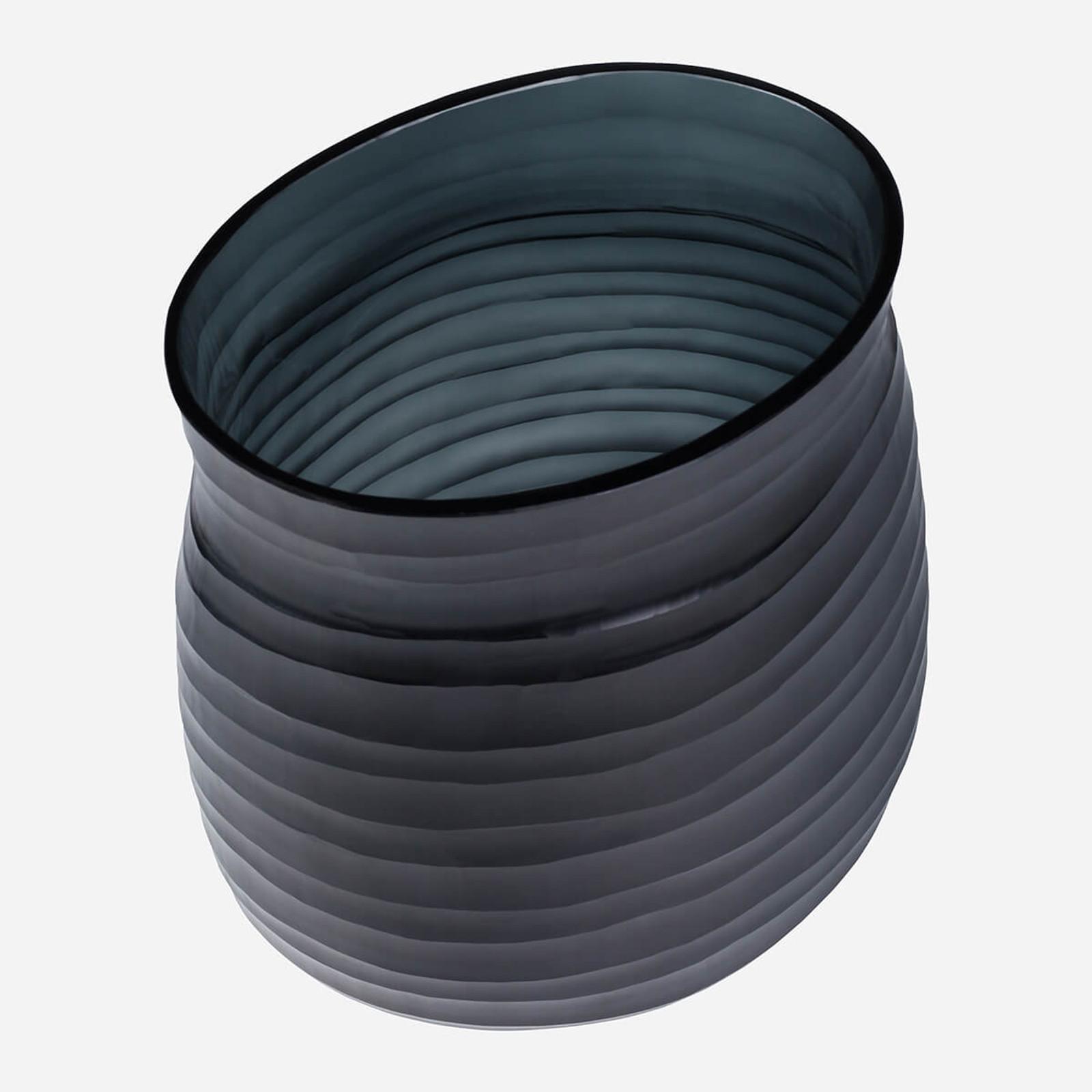 Escaut Medium Vase, Dark Indigo