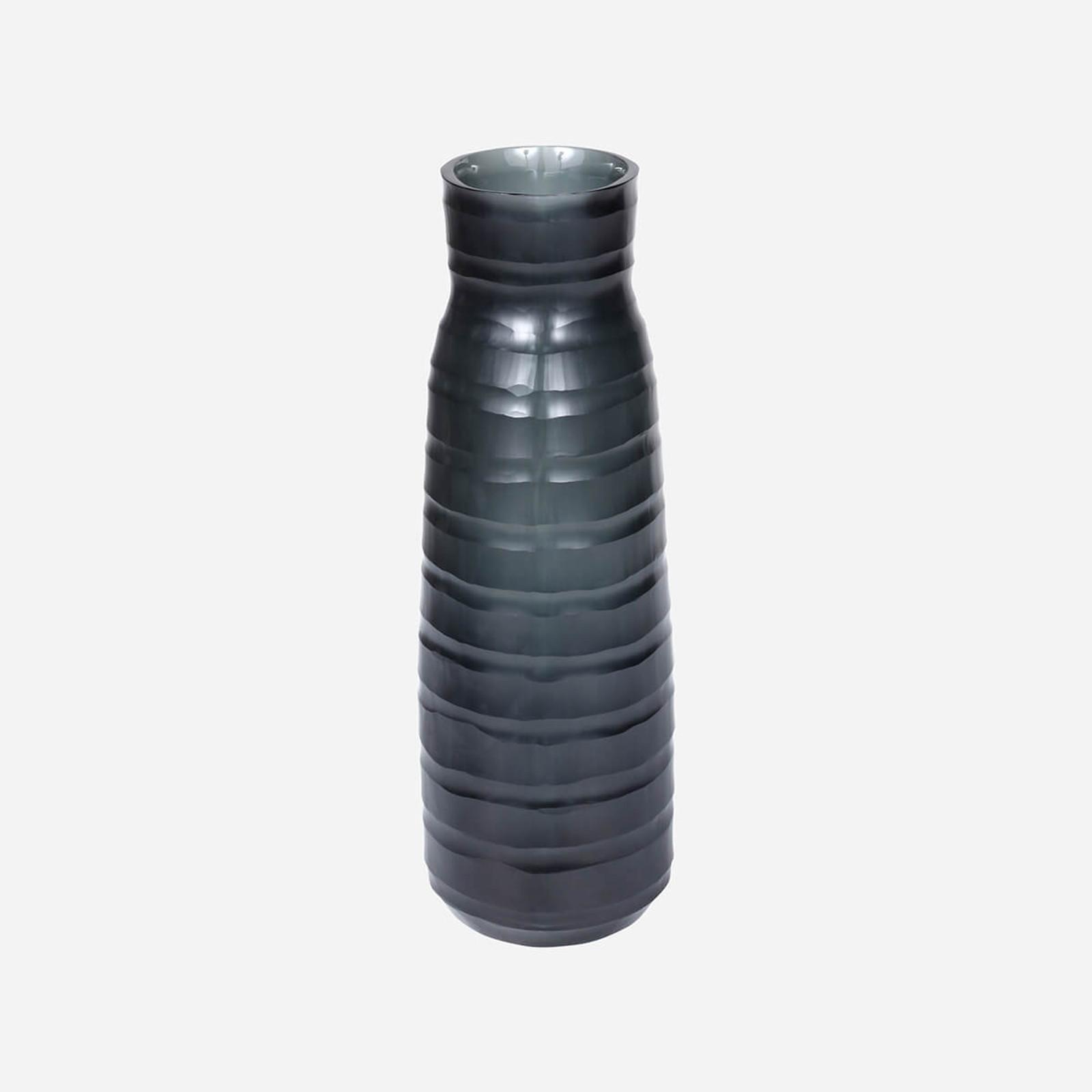 Escaut Tall Vase, Dark Indigo