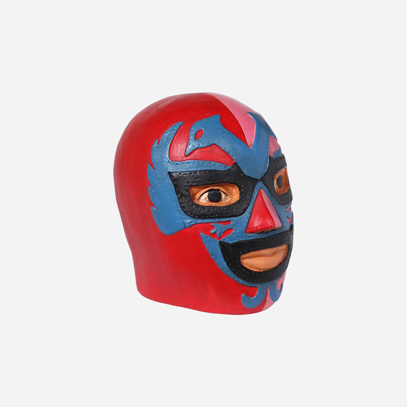 Dos Caras Wrestler Head Coin Bank