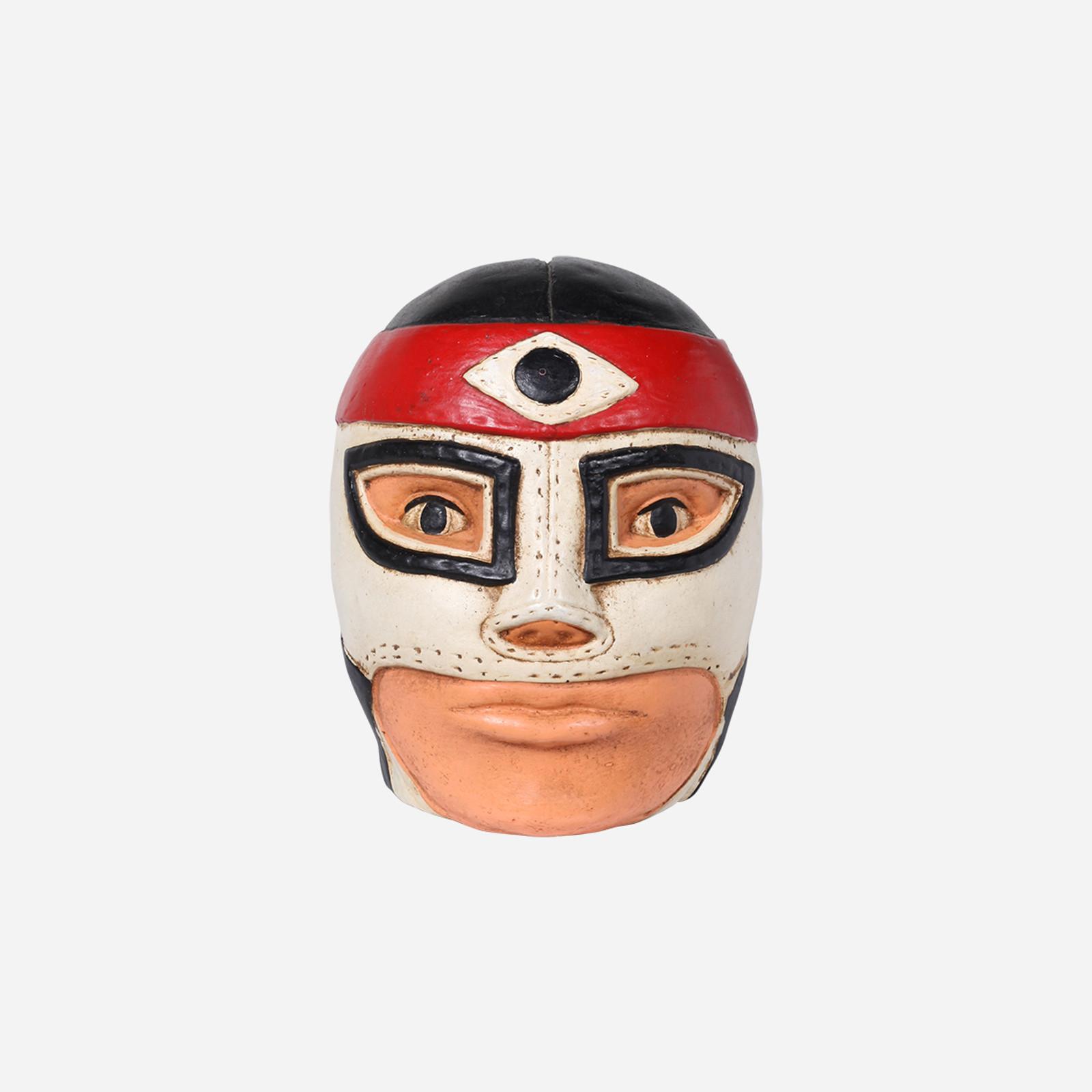 Octagon Wrestler Head Coin Bank