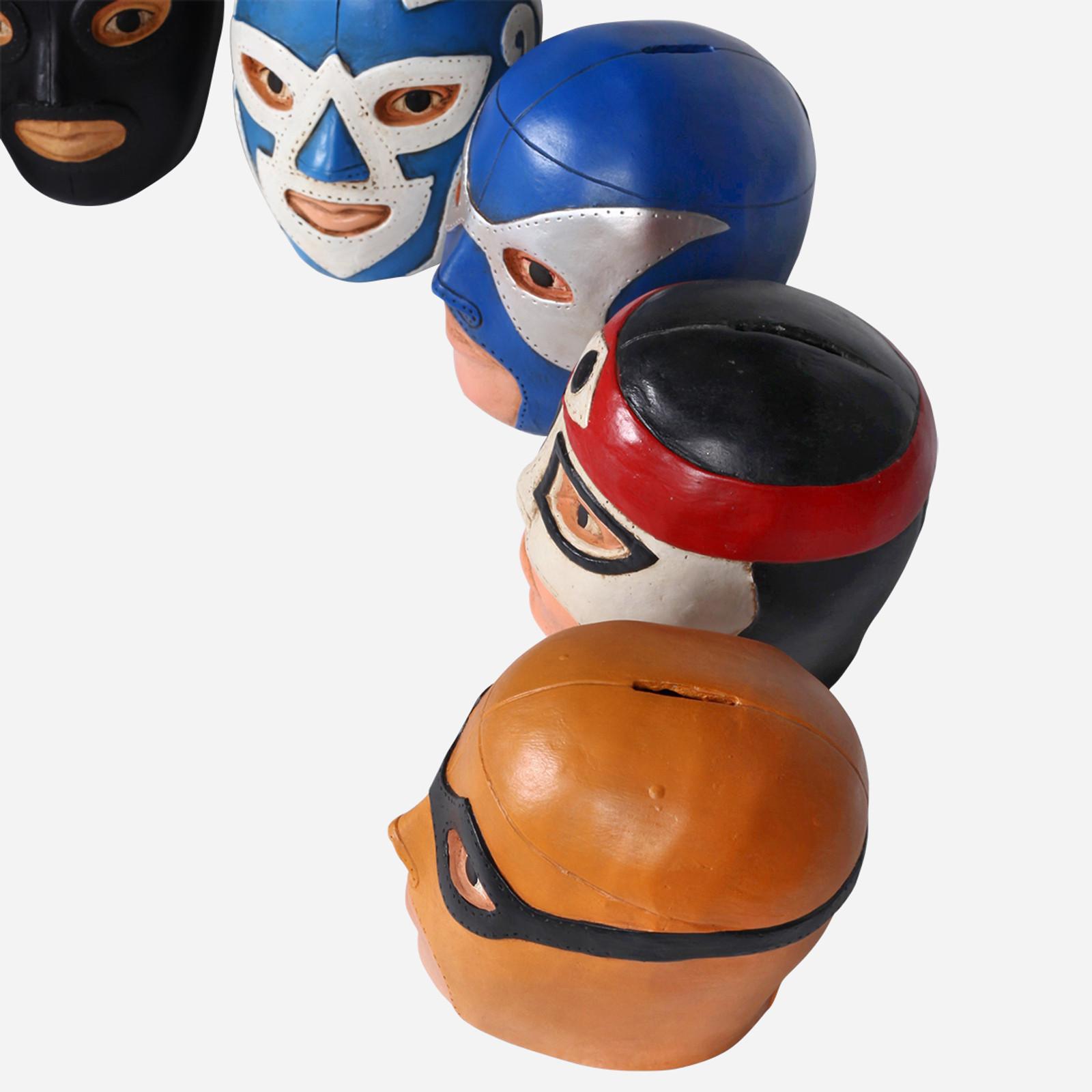El Solitario Wrestler Head Coin Bank