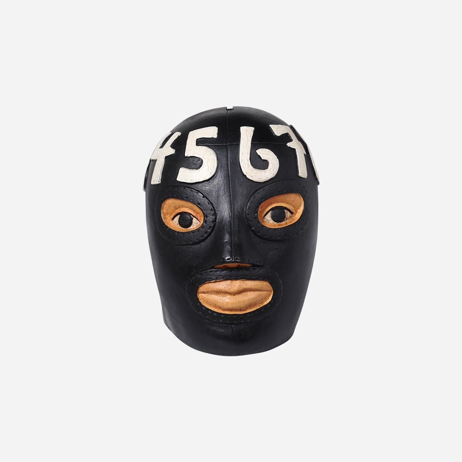 El Matematico Wrestler Head Coin Bank