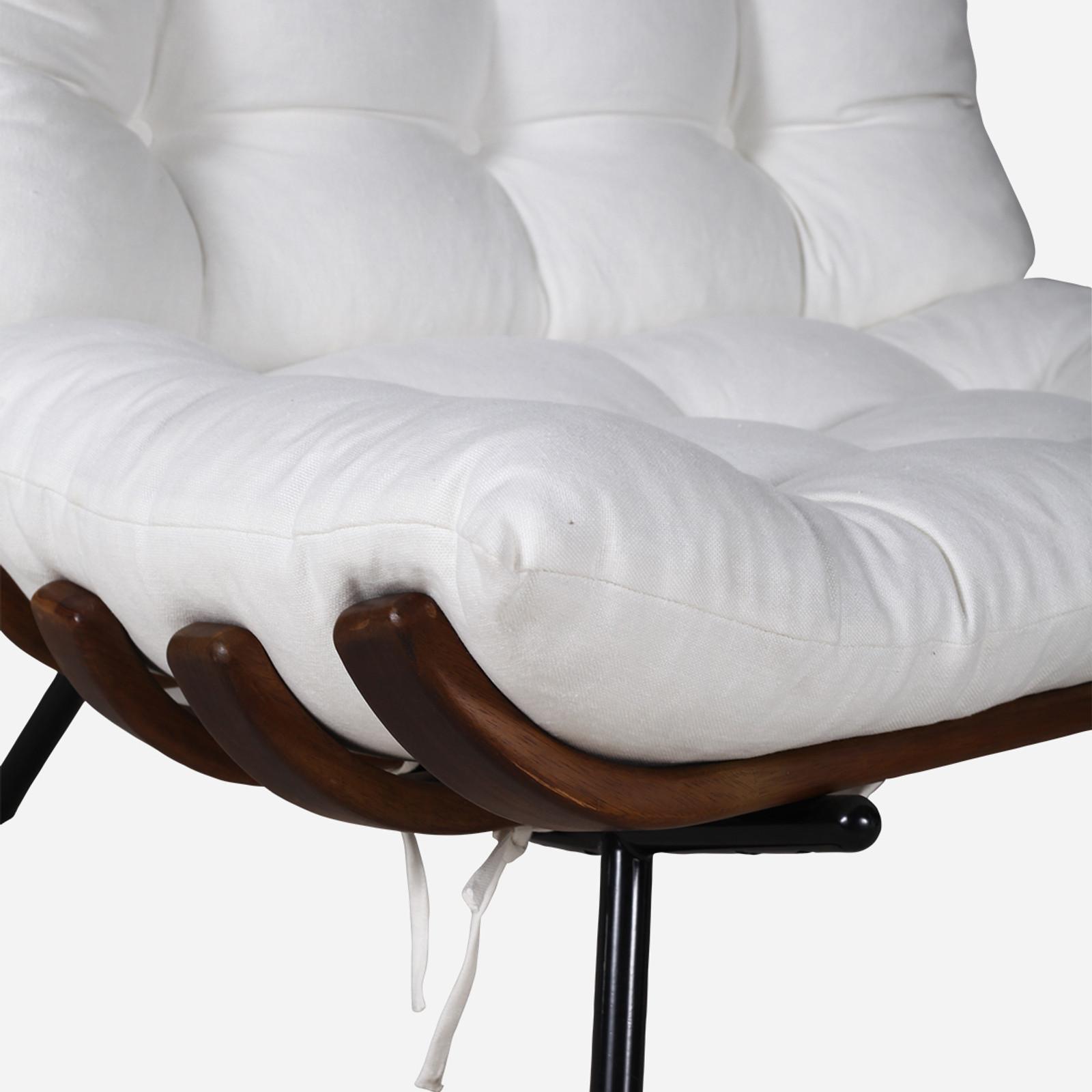 Rib chair, Linen
