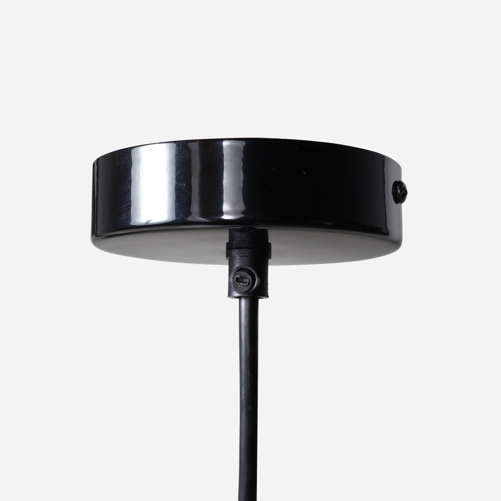 Retro Rondeau Pendant, Black