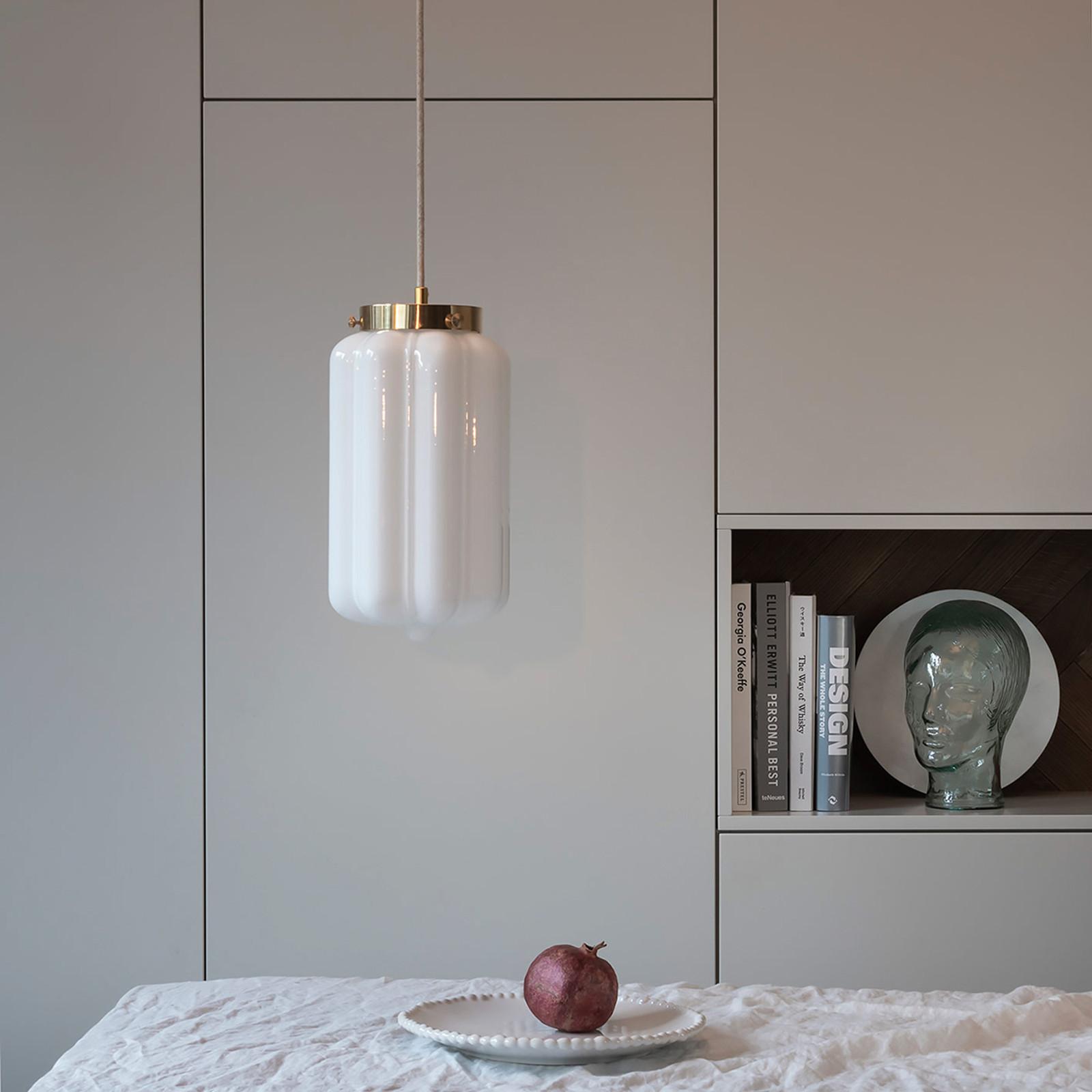 Glass Pendant Light Opaline Deco