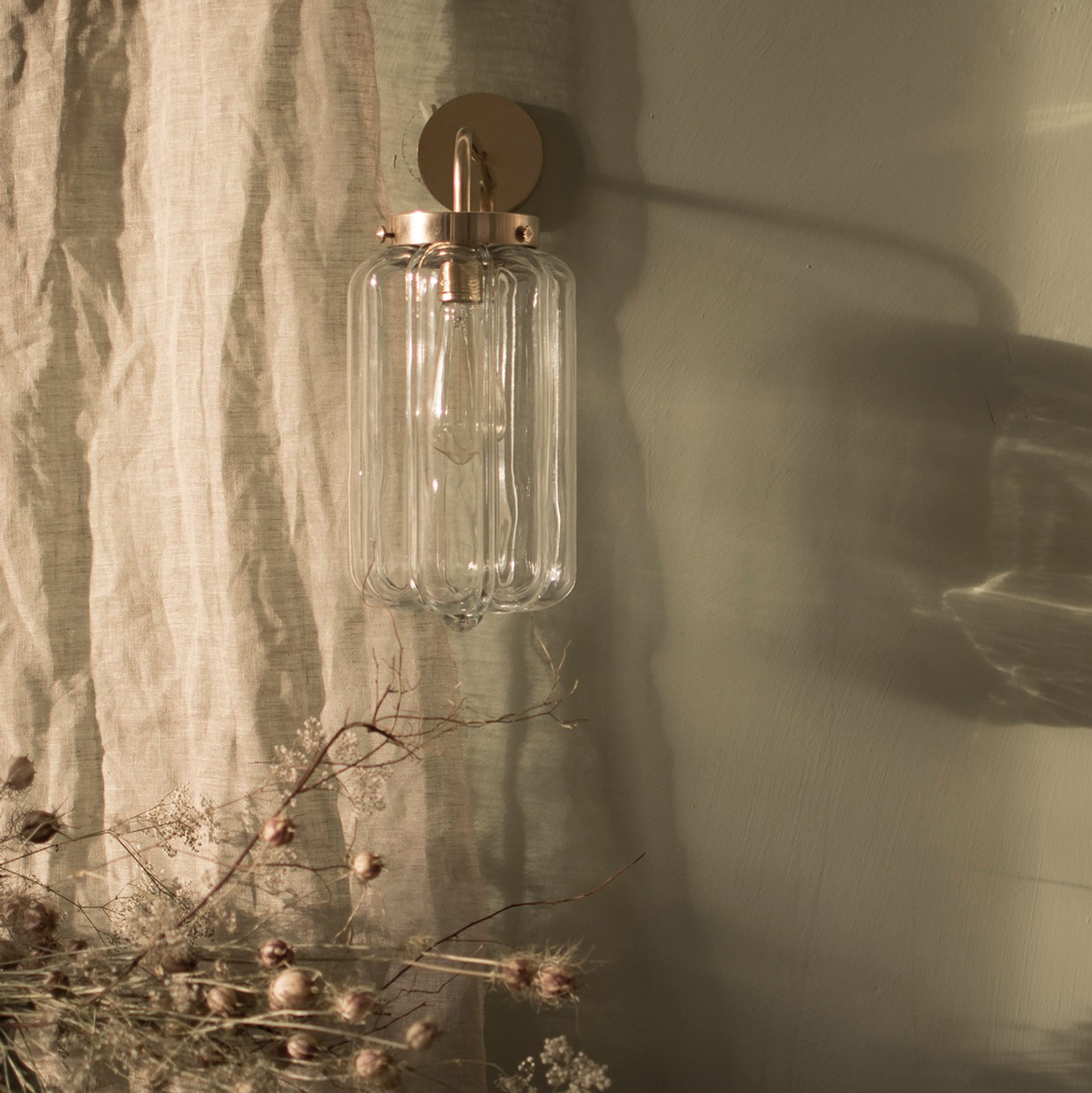 Glass Wall Lamp Clear Deco