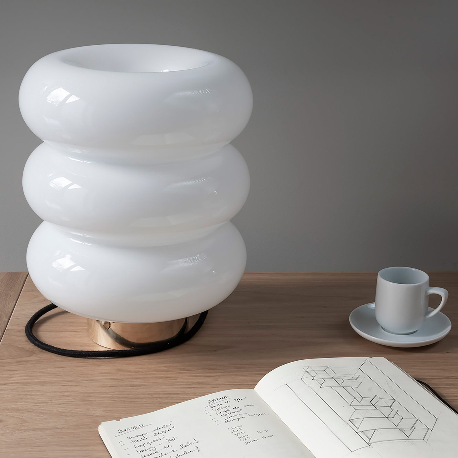 Glass Table Lamp Bibe