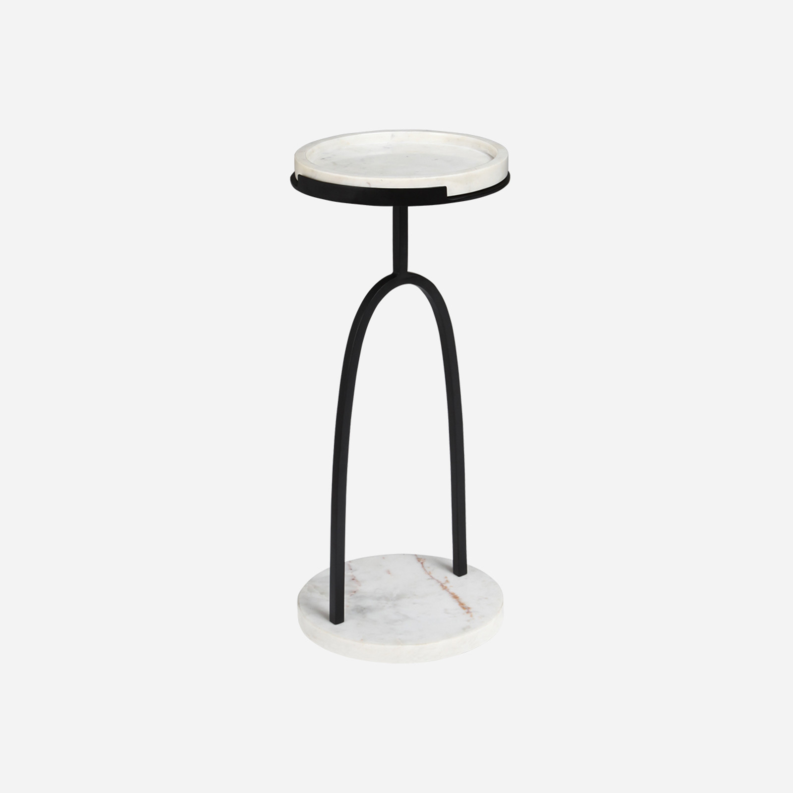 Side Table With White Marble