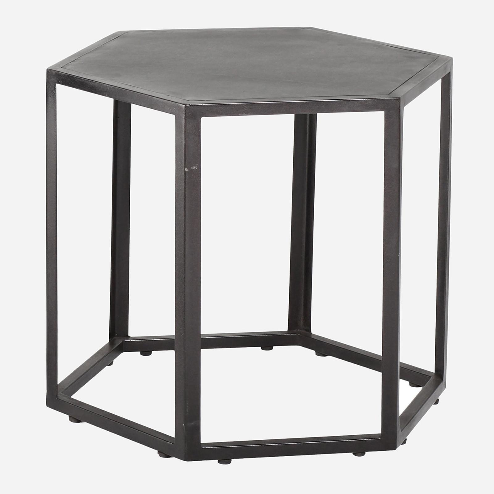 Hexagonal Rubber Side Table, Sm