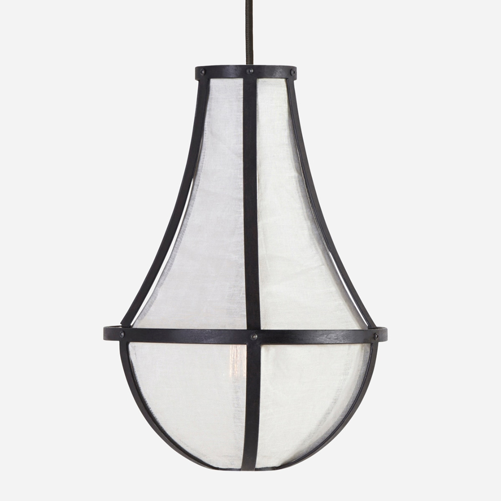 Empire Linen Chandelier, Small