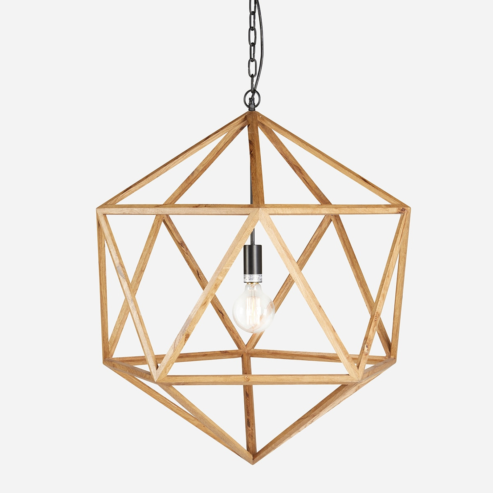 Wooden Polyhedron Natural Large