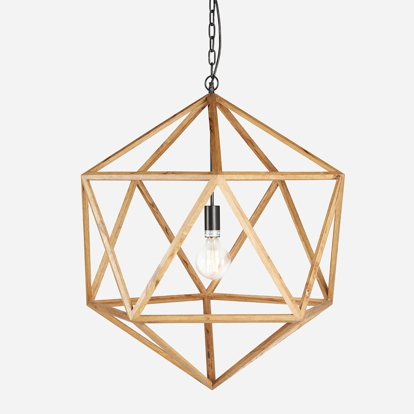 Wooden Polyhedron Natural Medium